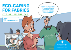 Eco-caring for fabrics